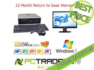"Education Package - Complete Workstation! HP Compaq 8000 Elite SFF Dual Core 3.0GHz 22"" Monitor Office 2010 - PC Traders New Zealand"