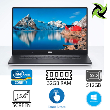 Dell Precision 5520 Workstation Laptop Ex-Lease i7-6820HQ 2.70Ghz 32GB RAM 512GB SSD Quadro M1200 4GB Card 15