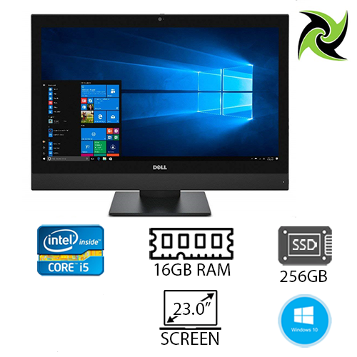 "Dell Optiplex 7450 Ex-Lease Aio I5-7600 3.50ghz 16gb RAM 256gb SSD Hd Graphics 630 Dvd-R 23"" Webcam Win 10 Pro"