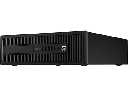 HP EliteDesk 800 G2 SFF Ex Lease Desktop i5-6500 3.2GHz 8GB RAM 240GB SSD Windows 10 Home Desktop - PC Traders New Zealand