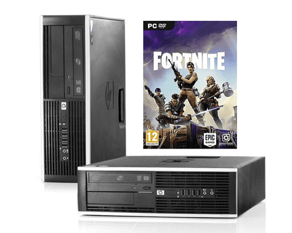 Fortnite Ready HP Compaq 8200 Elite SFF Ex Lease Desktop i7-2600 3.4 GHz 8GB RAM 500GB HDD DVD±RW Windows 10 Pro NVidia GeForce GT 710 2GB DDR3 Graphics Card - PC Traders New Zealand