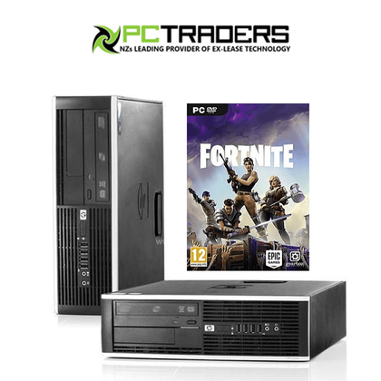 Fortnite Ready HP Compaq Elite 8300 SFF Ex Lease Desktop i5-3470 3.2GHz 8GB RAM 120GB SSD DVD-RW Windows 10 Home NVidia GeForce GT 710 2GB Graphics Card Desktop - PC Traders New Zealand