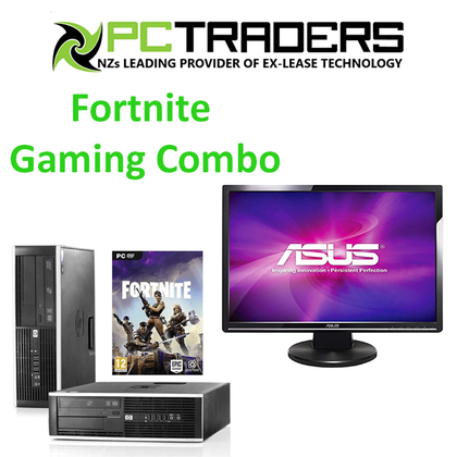Fortnite Ready Gaming Bundle!!! HP Compaq Elite 8300 SFF 8GB RAM 240GB SSD + 500GB HD with NVidia GeForce GT 710 2GB DDR3 Graphics Card + 22inch ASUS LCD Monitor + Keyboard & Mouse
