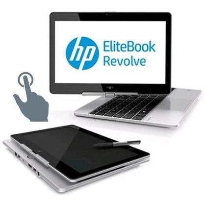 HP EliteBook Revolve 810 G3 Touchscreen Ex Lease Laptop i5-5300U 2.3GHz 4GB RAM 128GB SSD 11