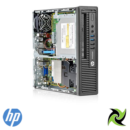 HP EliteDesk 800 G1 USFF Ex Lease PC i5-4570s 3.2 GHz 8GB RAM 120GB SSD NEW! DVD-R Windows 10 home Desktop - PC Traders New Zealand