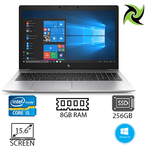 "Elite Combo!! HP EliteBook 850 G6 Refurbished Intel i5-8265u 1.60ghz 8GB RAM 256GB SSD 15"" Webcam Win 10 Pro, includes: 2 x 24"" Brand monitors, 1 x HP Dock G2, Wired Keyboard and mouse"