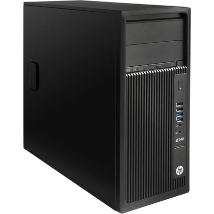 Combo!! HP Z240 WorkStation Ex Lease Twr i7 6th Gen 3.40GHZ 16GB RAM 240GB SSD + 1TB HDD Nvidia Quadro k620 2GB W10 PRO, includes: 2 x 24