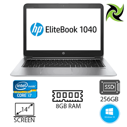 HP ELITEBOOK FOLIO 1040 G2 EX-LEASE I7-5600U 2.60GHz 8GB RAM 256GB SSD HD GRAPHICS NO ODD 14