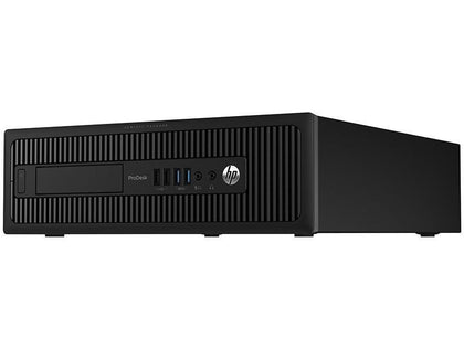 HP ProDesk 600 G1 Ex-lease SFF i5-4590 3.30GHz 8GB RAM 240GB SSD Windows 10 Pro Desktop - PC Traders New Zealand