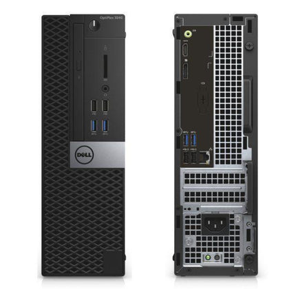Dell OptiPlex 7040 Ex Lease SFF Desktop i5-6500 3.2GHz 8GB RAM 240GB SSD Windows 10 Pro DVD-RW - PC Traders New Zealand