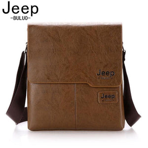 JEEP BULUO Famous Brand Leather Men Bag Casual Business Leather Mens Messenger Bag Vintage Men's Crossbody Bag bolsas male 1505 - PC Traders New Zealand