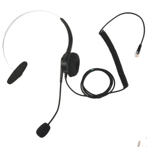 Top Quality Crystal Head Set Telephone Monaural Corded Headset 4-pin Black - PC Traders New Zealand