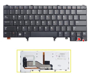 NEW US Keyboard With backlight For DELL Latitude E5420 E5430 E6220 E6420 E6320 E6330 E6430 Laptop US Keyboard - PC Traders New Zealand