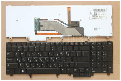 HB keyboard For DELL Latitude E6520 E6530 E6540 E5520 E5520M E5530 M6700 Hebrew laptop  keyboard With backlit 023PMT NSK-DW0BF  - PC Traders New Zealand