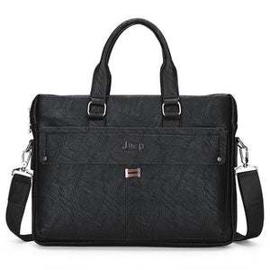 Jeep Cow Split Leather Bag Business Men bags Laptop Tote Briefcases Crossbody bags Shoulder Handbag Men's Messenger Bag 914