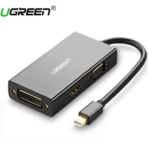 Ugreen Thunderbolt Mini Displayport DP to HDMI VGA DVI Adapter Converter Cable For Apple MacBook Air Pro Mini DP to HDMI VGA DVI - PC Traders New Zealand