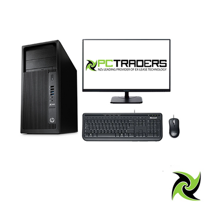 Workstation combo!! HP Z240 WorkStation Ex Lease Tower PC i7-6700 CPU 3.40GHZ 16GB RAM 128GB SSD + 1TB HDD DVD-R Nvidia Quadro K620 2GB W10 Pro, Includes: 23