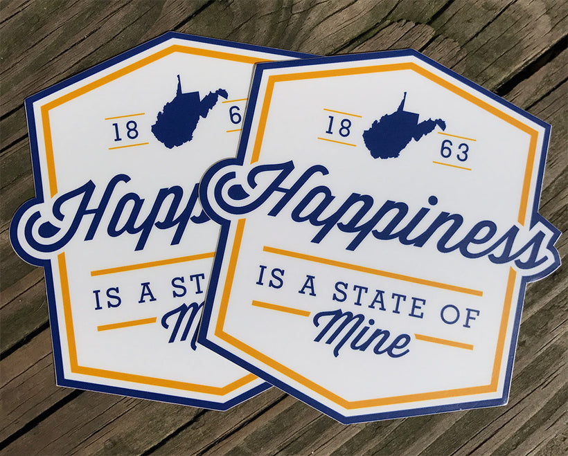 Happiness Die Cut Sticker