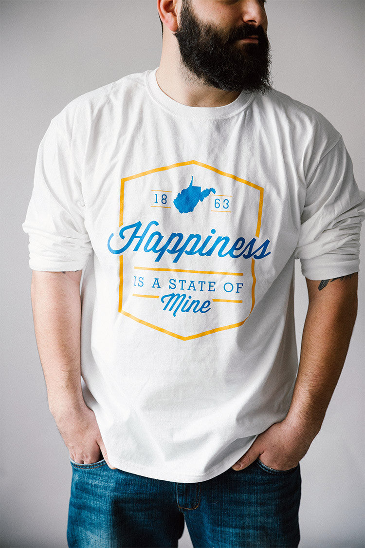"""Happiness WV"" - White LS"