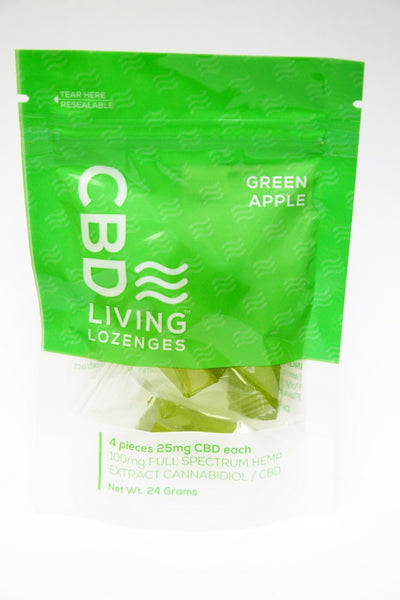100 MG CBD Green Apple Lozenges Bag