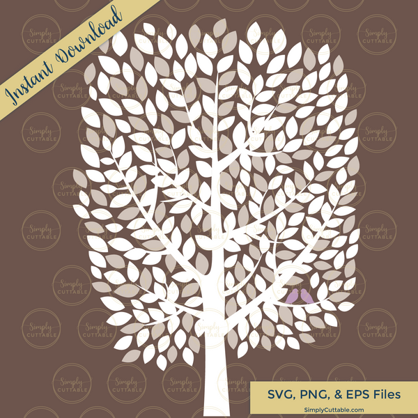 Wedding Guest Book Tree SVG Cut File for Cricut Explore