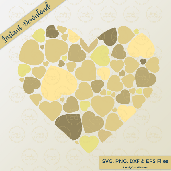 Heart Wedding Guest Book SVG Cut File