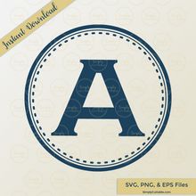 Circle Dashed Monogram SVG Cut Files