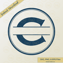 Circle Split Monogram SVG Cut Files