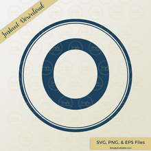 Circle Monogram SVG Cut Files