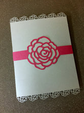 Roses Belly Bands for Invitations
