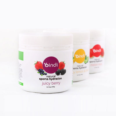Bindi Natural Sports Hydration 420G Tubs ( 3 flavours)