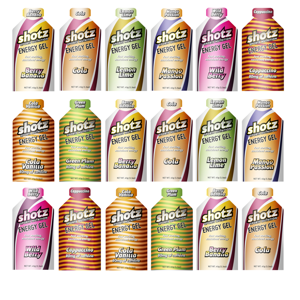 Shotz Energy Gel Multiple flavours