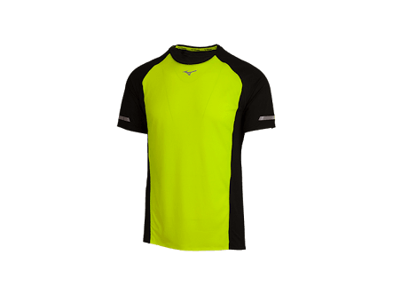 Mizuno Premium Aero Tee Safety Yellow/Black