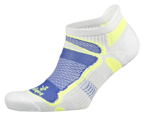 Balega Ultra light No Show - White/ Royal / Yellow