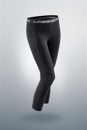 Linebreak Womens Compression 7/8 Crop Tight Black