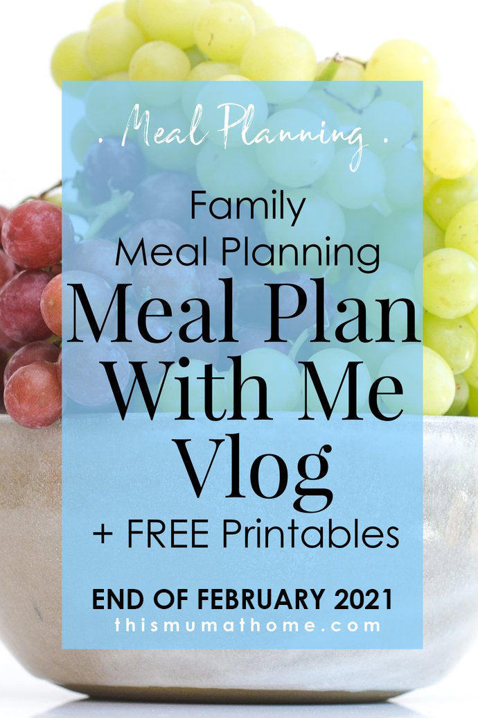Meal Plan With Me | End Of February 2021 - VIP ONLY VLOG