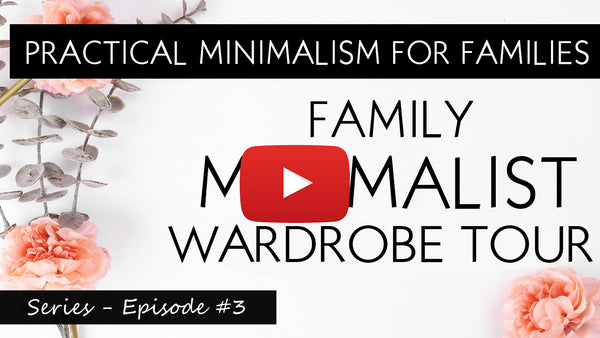 Family minimalism Wardrobe Tour PRACTICAL MINIMALISM FOR FAMILIES  ep 3 video - with This Mum At Home #sahm #wahm #minimalism #declutter #closet