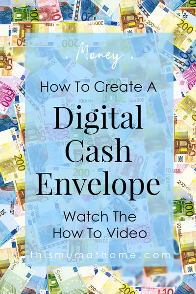 How To Create A Digital Cash Envelope - with This Mum At Home #cashenvelope #save #money #budgettips #budget #australia
