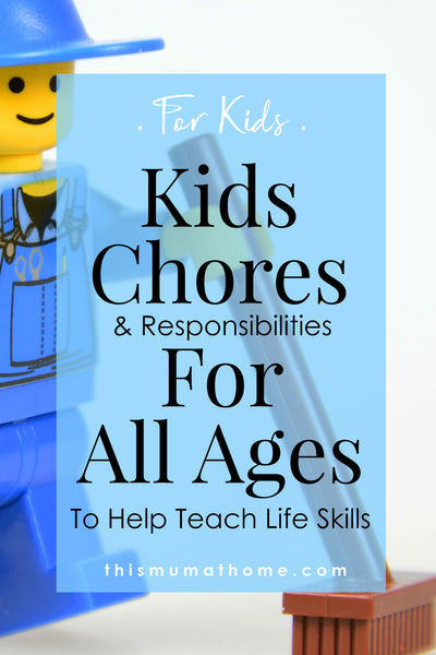 Kids Chores & Responsibilities For All Ages - This Mum AT Home Blog #pocketmoney #money #thismumathome #blog #mblogger #savingy #save #budget