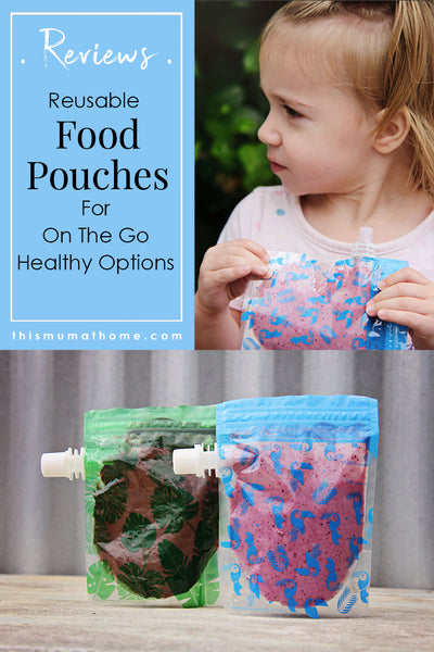 Cherub Baby Reusable Food Pouches  Blue /& Green Special Edition 10 pk