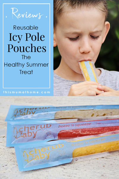 Reusable Icy Pole Pouches the healthy summer treat - This Mum AT Home product reviews #food #kidsfood #healthy #icypole #cleaneating #productreview #thismumathome #recipe