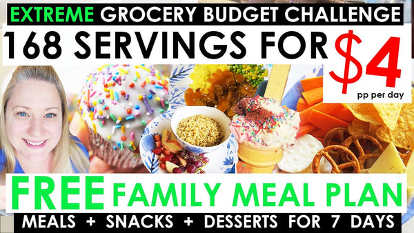 Emergency Extreme Budget Grocery Haul Challenge Australia 2021 Meal Plan