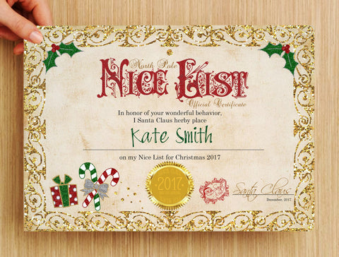image regarding Printable Santa Nice List Certificate referred to as A Superior Course Toward Offer you A Sweet Cane - with Totally free printable
