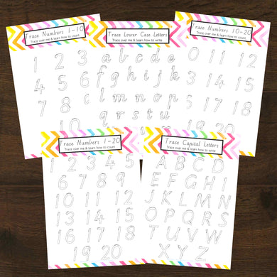 #NEW Learn My Numbers 1-20 & Letters 26 5pk Activity Set Printable - INSTANT DOWNLOAD