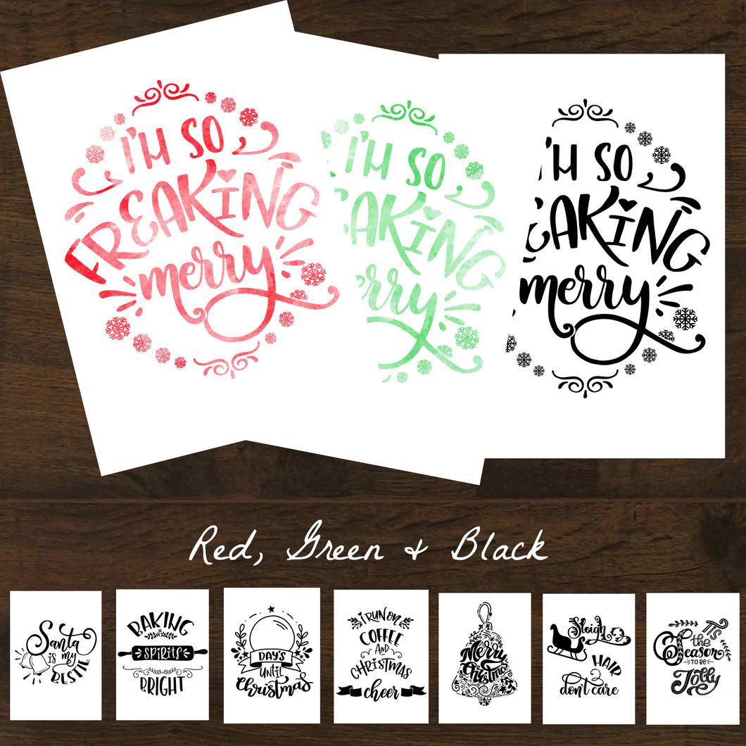 Christmas Fun Sayings Inspirational Printable 24pk