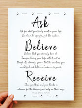 Ask, Believe, Receive Inspirational Printable 2pk