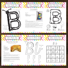 Letter Of The Week 'B' Recipe, Craft & Education 5pk Activity Set Printable - INSTANT DOWNLOAD