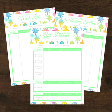 #NEW Christmas Gift Planner 3pk Printables - INSTANT DOWNLOAD
