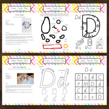 Letter Of The Week 'D' Recipe, Craft & Education 5pk Activity Set Printable - INSTANT DOWNLOAD