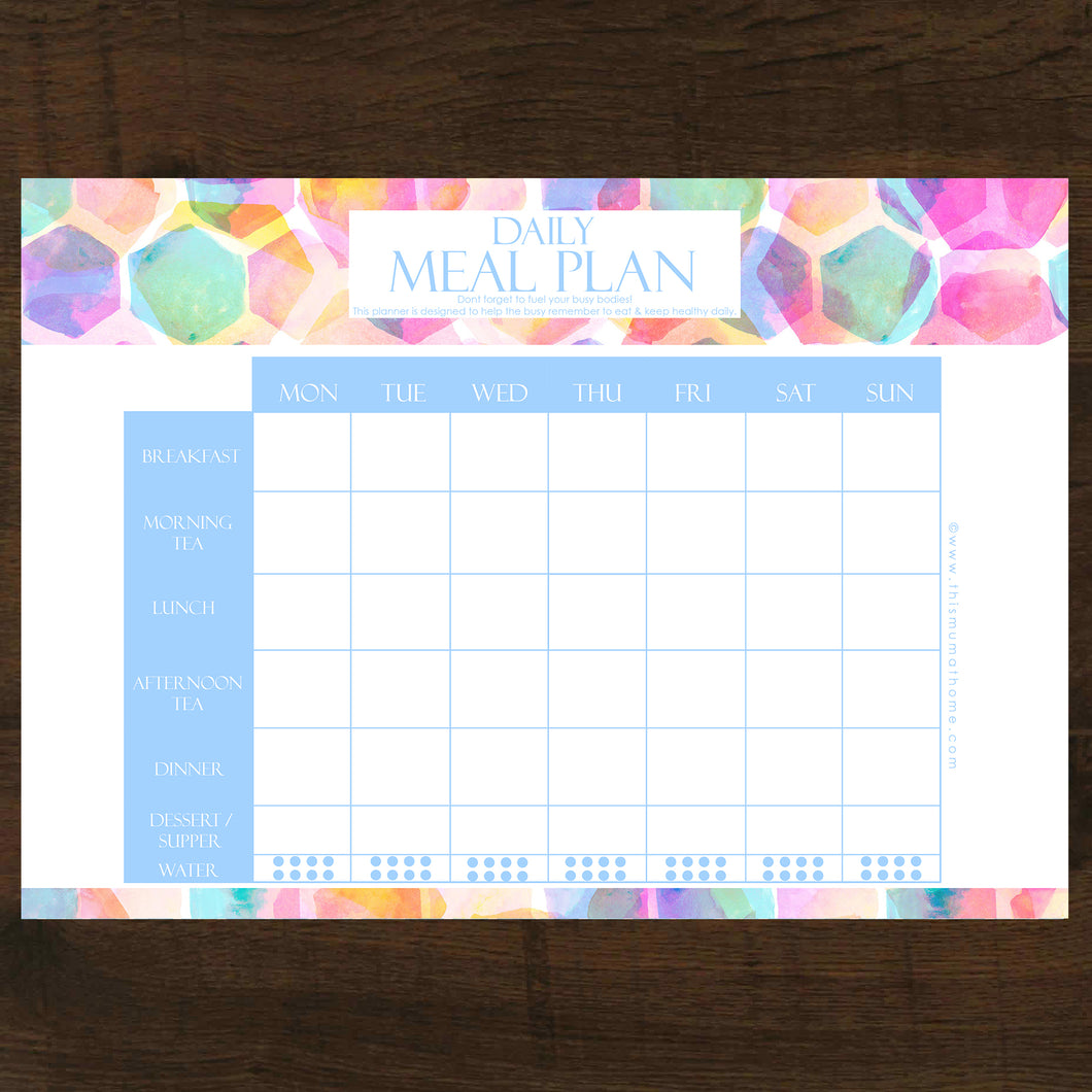 Daily Meal Planner For The Busy - INSTANT DOWNLOAD PRINTABLE
